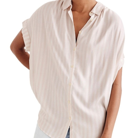 Madewell Tops - Madewell Central Top in Pink and White Stripe